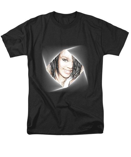 Rihanna  Men's T-Shirt  (Regular Fit) by Raina Shah