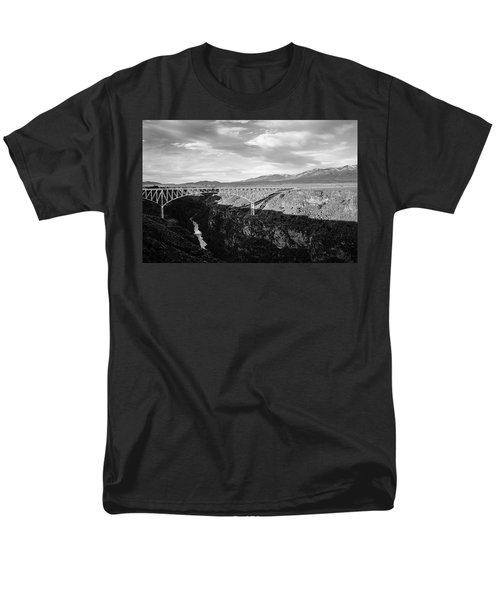 Men's T-Shirt  (Regular Fit) featuring the photograph Rio Grande Gorge Birdge by Marilyn Hunt