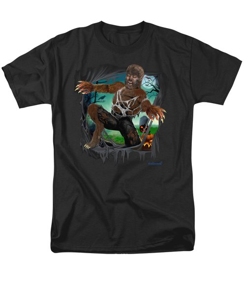 Rip Roaring Werewolf Men's T-Shirt  (Regular Fit) by Glenn Holbrook
