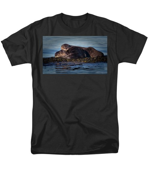 River Otters Men's T-Shirt  (Regular Fit) by Randy Hall