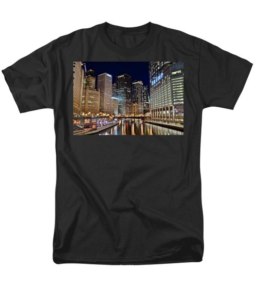 River View Of The Windy City Men's T-Shirt  (Regular Fit) by Frozen in Time Fine Art Photography
