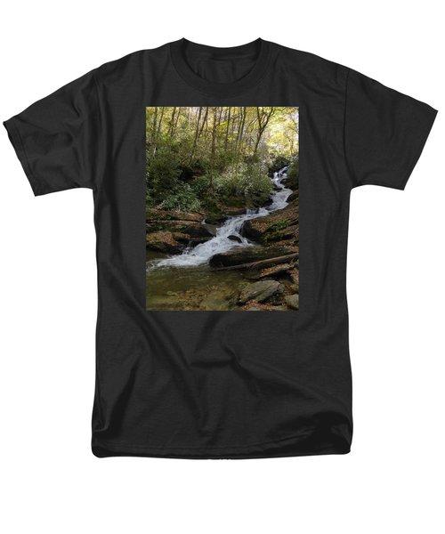Men's T-Shirt  (Regular Fit) featuring the photograph Roaring Fork Falls - October 2015 by Joel Deutsch