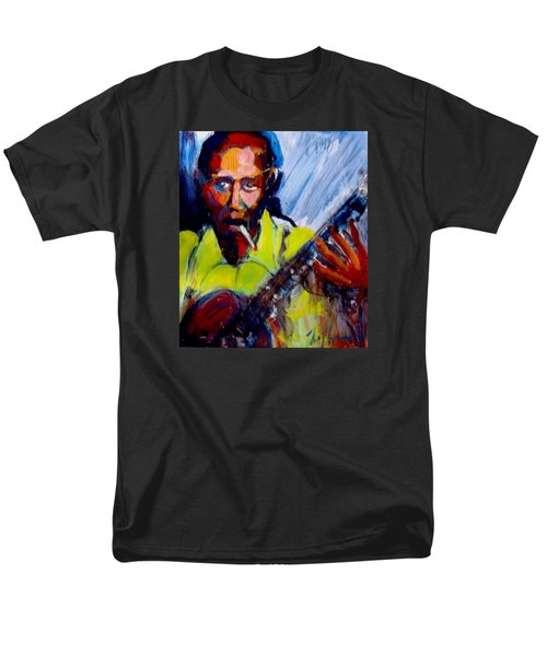 Men's T-Shirt  (Regular Fit) featuring the painting Robert Johnson by Les Leffingwell