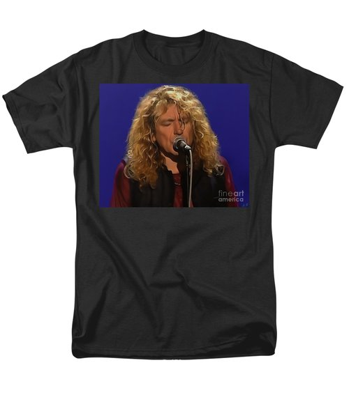 Robert Plant 001 Men's T-Shirt  (Regular Fit) by Sergey Lukashin