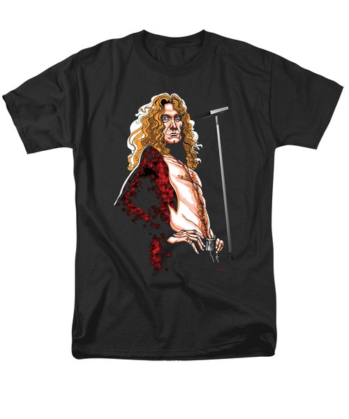 Robert Plant Of Led Zeppelin Men's T-Shirt  (Regular Fit) by GOP Art