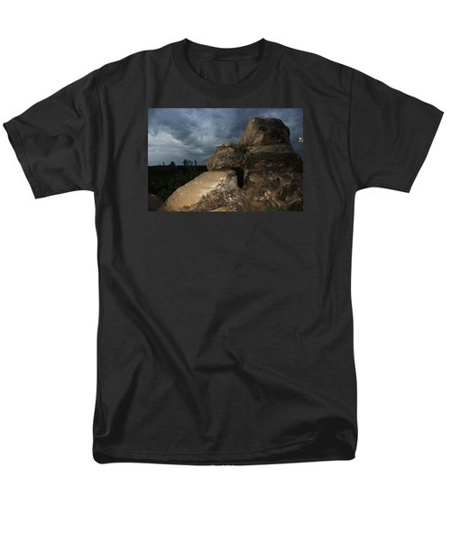 Men's T-Shirt  (Regular Fit) featuring the photograph Roche Percee Peak by Ryan Crouse