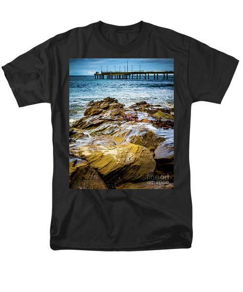 Men's T-Shirt  (Regular Fit) featuring the photograph Rock Pier by Perry Webster