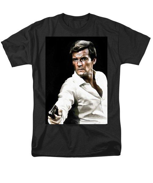 Roger Moore Men's T-Shirt  (Regular Fit) by Sergey Lukashin