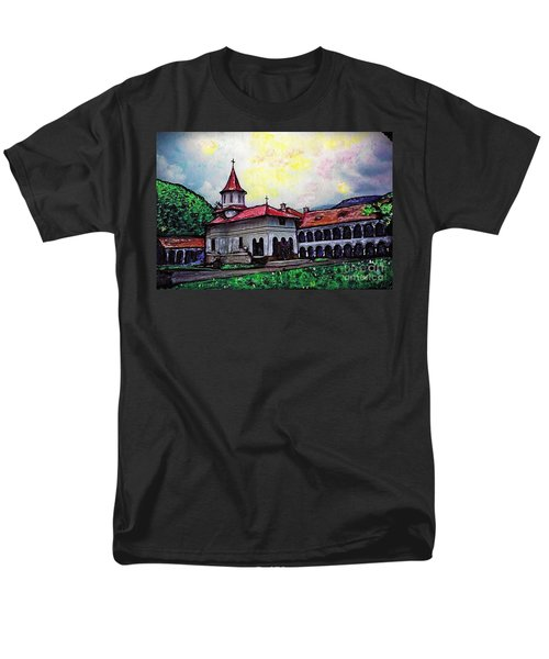Romanian Monastery Men's T-Shirt  (Regular Fit) by Sarah Loft