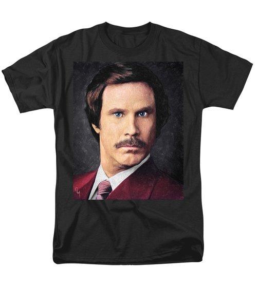 Ron Burgundy Men's T-Shirt  (Regular Fit) by Taylan Apukovska