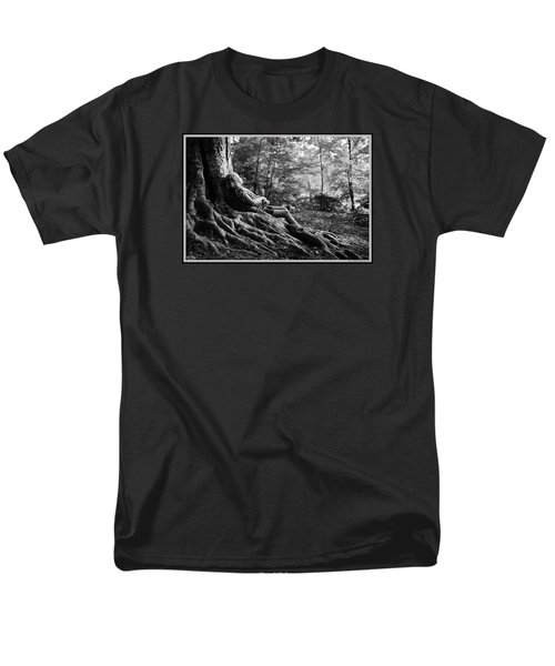 Men's T-Shirt  (Regular Fit) featuring the photograph Roots Of Contemplation by Ray Tapajna