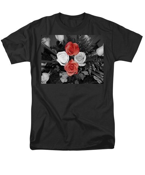 Rose Bouquet Men's T-Shirt  (Regular Fit) by DigiArt Diaries by Vicky B Fuller