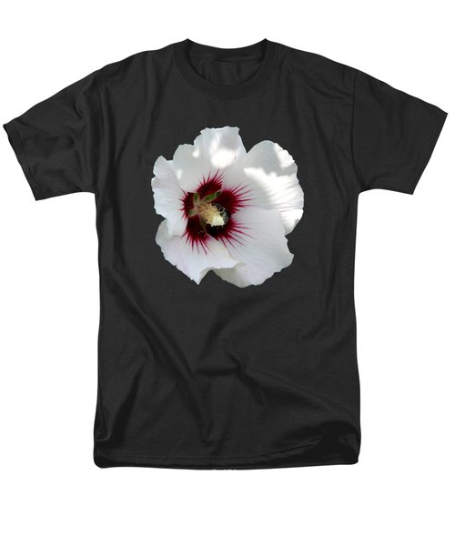 Rose Of Sharon Flower And Bumble Bee Men's T-Shirt  (Regular Fit)