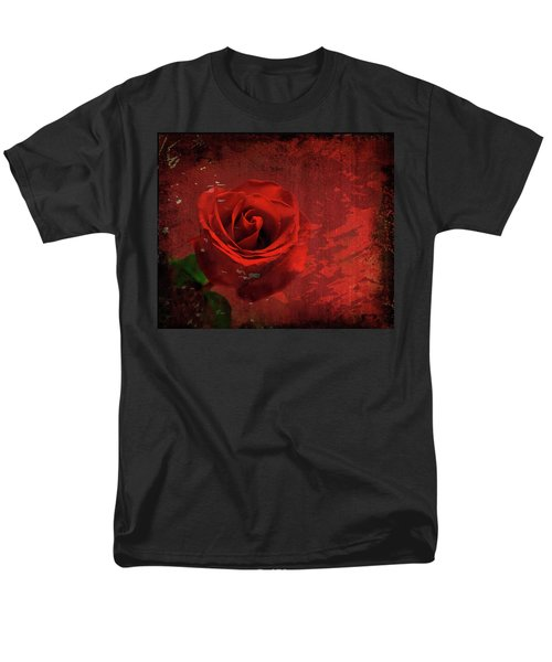 Men's T-Shirt  (Regular Fit) featuring the photograph Roses Are Still Red by Bonnie Willis