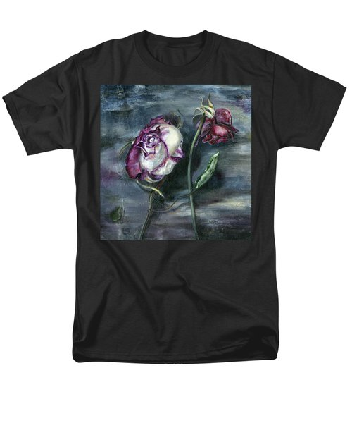 Men's T-Shirt  (Regular Fit) featuring the painting Roses Never Die by Nadine Dennis