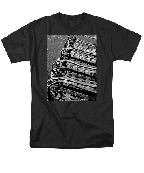 Men's T-Shirt  (Regular Fit) featuring the photograph Row Of Chairs by Ranjini Kandasamy