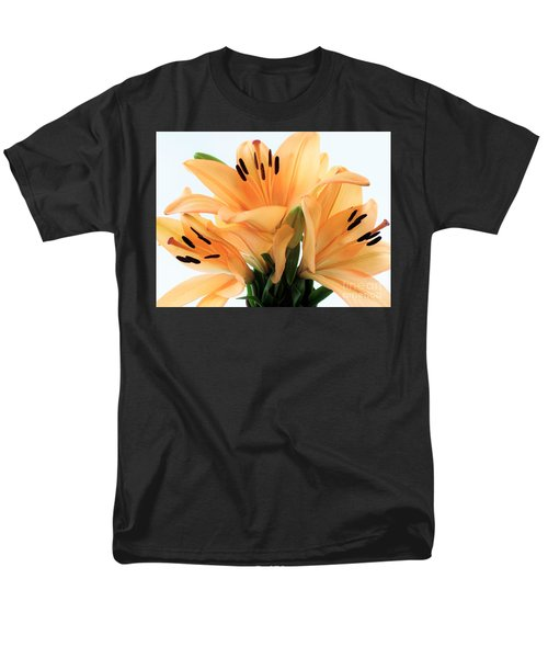Men's T-Shirt  (Regular Fit) featuring the photograph Royal Lilies Full Open - Close-up by Ray Shrewsberry