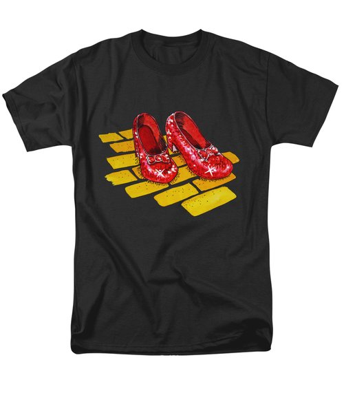 Ruby Slippers From Wizard Of Oz Men's T-Shirt  (Regular Fit) by Irina Sztukowski
