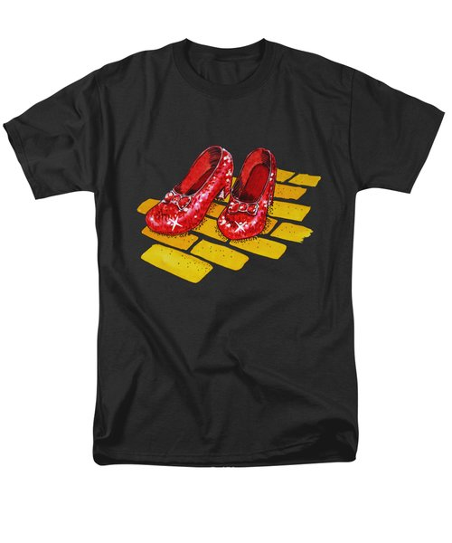 Ruby Slippers The Wonderful Wizard Of Oz Men's T-Shirt  (Regular Fit) by Irina Sztukowski