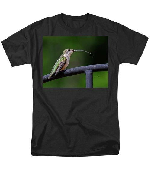 Ruby-throated Hummingbird Tongue Men's T-Shirt  (Regular Fit) by Ronda Ryan