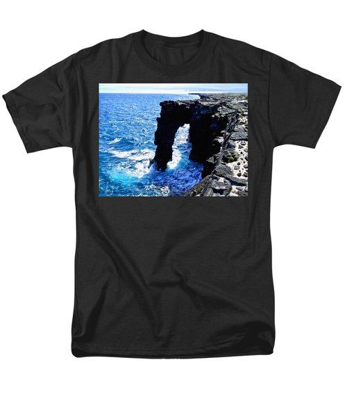 Men's T-Shirt  (Regular Fit) featuring the photograph Rugged Kona Sea Arch by Amy McDaniel