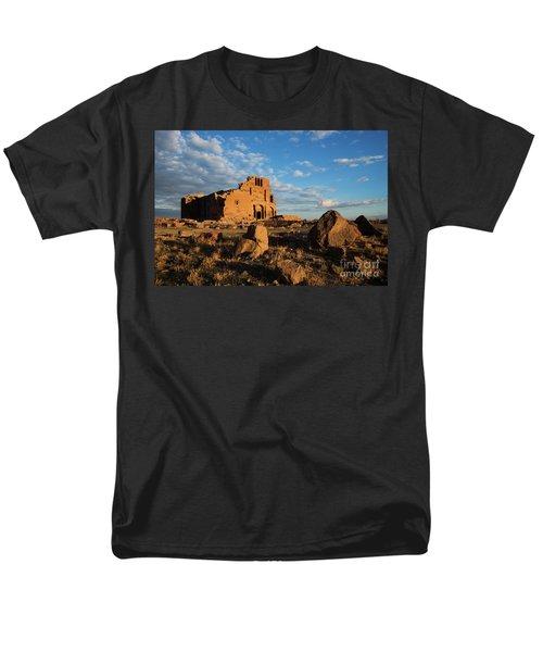 Ruins Of Yereruyk Temple Under Amazing Cloudscape, Armenia Men's T-Shirt  (Regular Fit) by Gurgen Bakhshetsyan