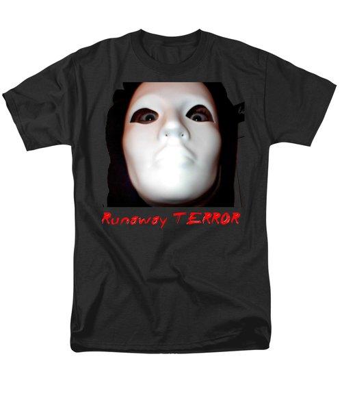 Runaway Terror 3 - Black Men's T-Shirt  (Regular Fit) by Mark Baranowski