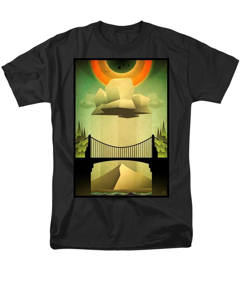 Men's T-Shirt  (Regular Fit) featuring the mixed media Sacred Sun Shower by Milton Thompson