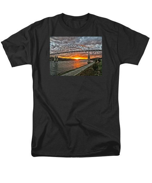 Sagamore Bridge Sunset Men's T-Shirt  (Regular Fit) by Constantine Gregory