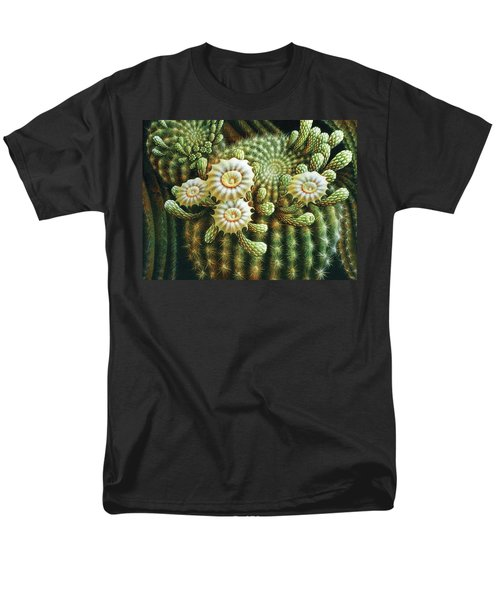 Saguaro Cactus Blossoms Men's T-Shirt  (Regular Fit) by James Larkin