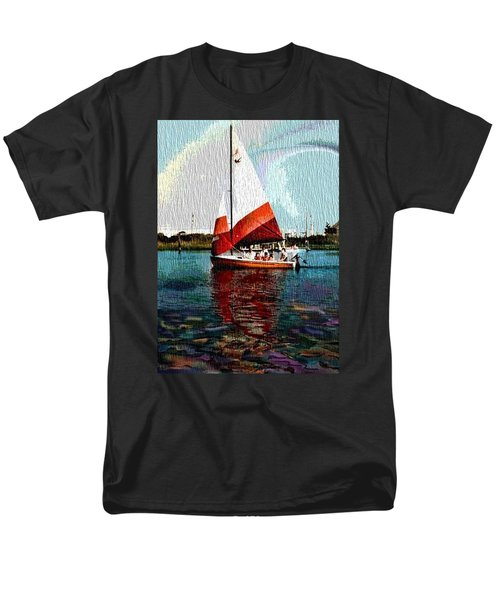 Sail Along On The Sea Men's T-Shirt  (Regular Fit) by Vickie G Buccini