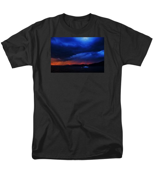 Men's T-Shirt  (Regular Fit) featuring the photograph Sailboat In Thunderstorm by Sean Sarsfield