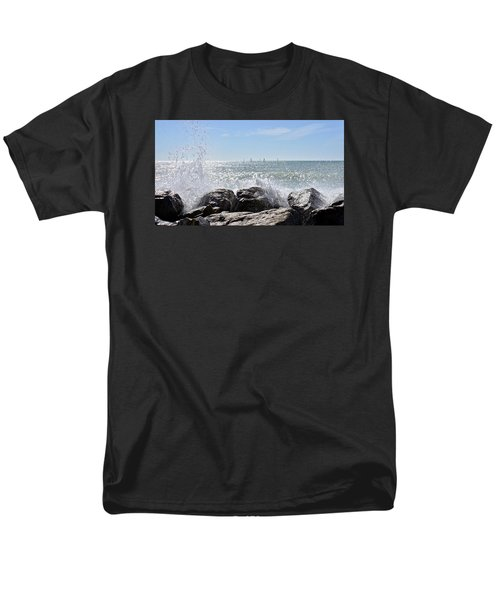 Sailboats And Surf Men's T-Shirt  (Regular Fit) by Carol Bradley