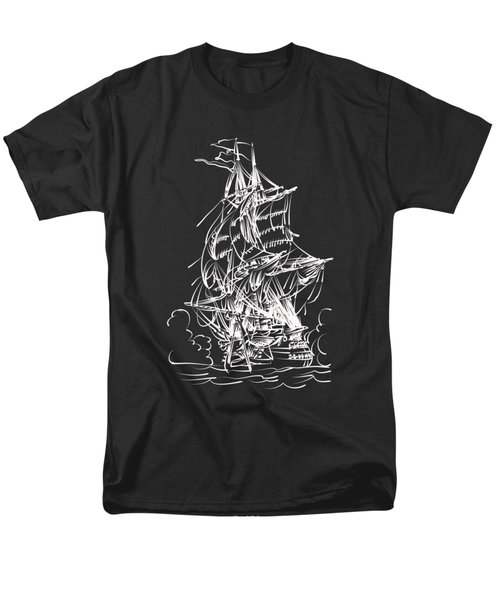 Men's T-Shirt  (Regular Fit) featuring the painting Sailing 2  by Andrzej Szczerski
