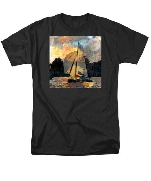 Sailing Into The Sunset Men's T-Shirt  (Regular Fit) by LemonArt Photography