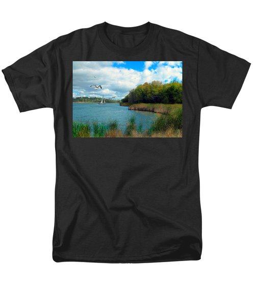 Sails In The Distance Men's T-Shirt  (Regular Fit) by Cedric Hampton