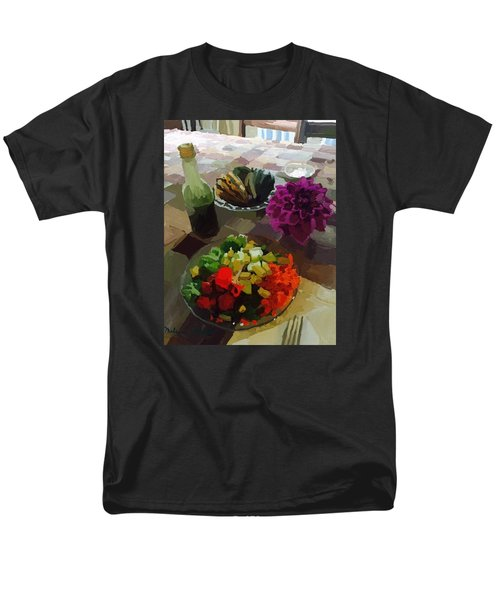 Salad And Dressing With Squash And Dahlia Men's T-Shirt  (Regular Fit) by Melissa Abbott