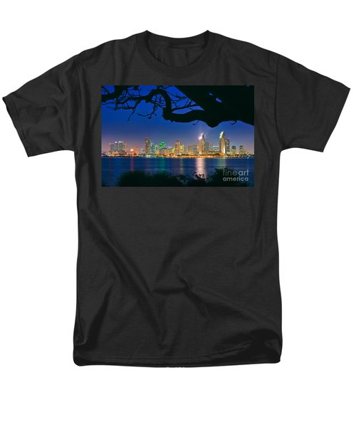 San Diego Skyline From Bay View Park In Coronado Men's T-Shirt  (Regular Fit) by Sam Antonio