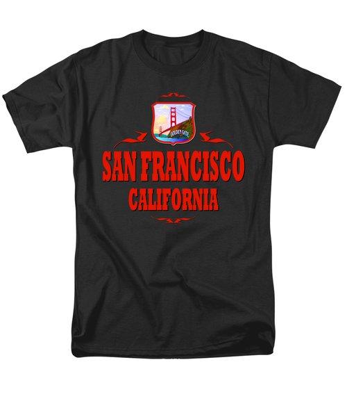 San Francisco California Golden Gate Design Men's T-Shirt  (Regular Fit)