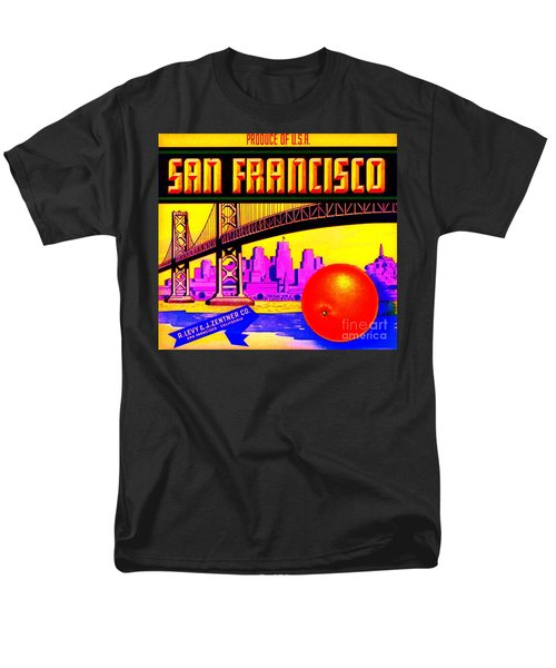 Men's T-Shirt  (Regular Fit) featuring the painting San Francisco Oranges by Peter Gumaer Ogden