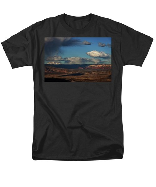 San Francisco Peaks With Snow And Clouds Men's T-Shirt  (Regular Fit) by Ron Chilston