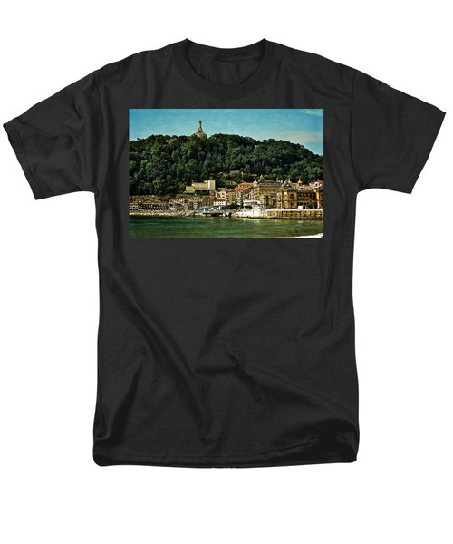 San Sebastian Spain Men's T-Shirt  (Regular Fit) by Mary Machare