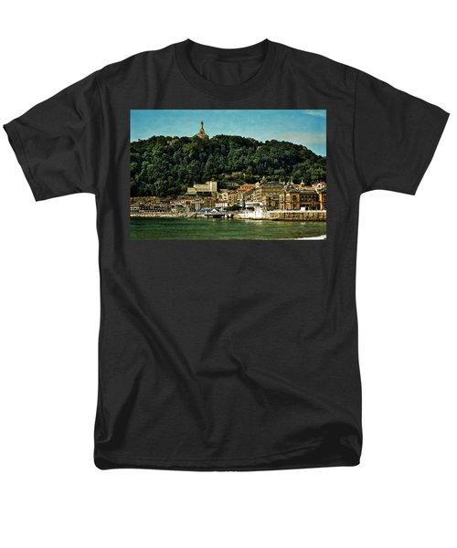 San Sebastian Spain Men's T-Shirt  (Regular Fit) by Mary Machare