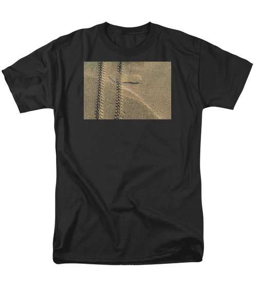 Men's T-Shirt  (Regular Fit) featuring the photograph Sand Tracks  by Lyle Crump