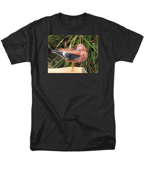 Men's T-Shirt  (Regular Fit) featuring the sculpture Sanderling Back by Kevin F Heuman