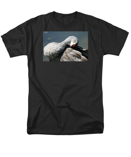 Sandhill Crane 7 Men's T-Shirt  (Regular Fit) by Rebecca Cozart
