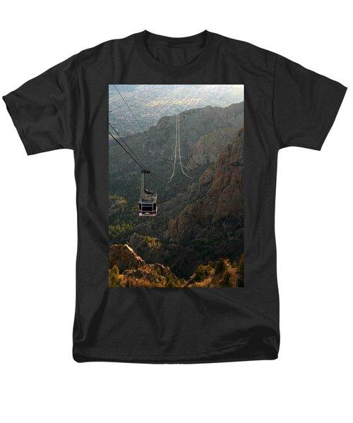Sandia Peak Cable Car Men's T-Shirt  (Regular Fit) by Joe Kozlowski