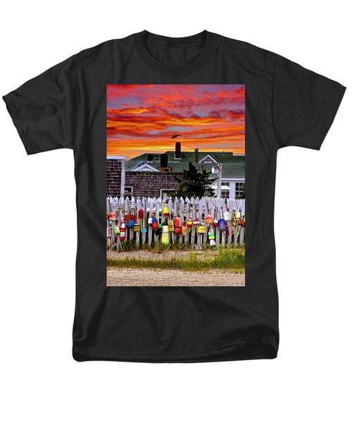 Sandy Neck Sunset Men's T-Shirt  (Regular Fit) by Charles Harden