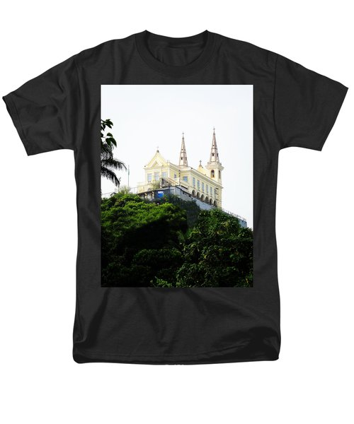 Santuario Da Penha Men's T-Shirt  (Regular Fit) by Zinvolle Art