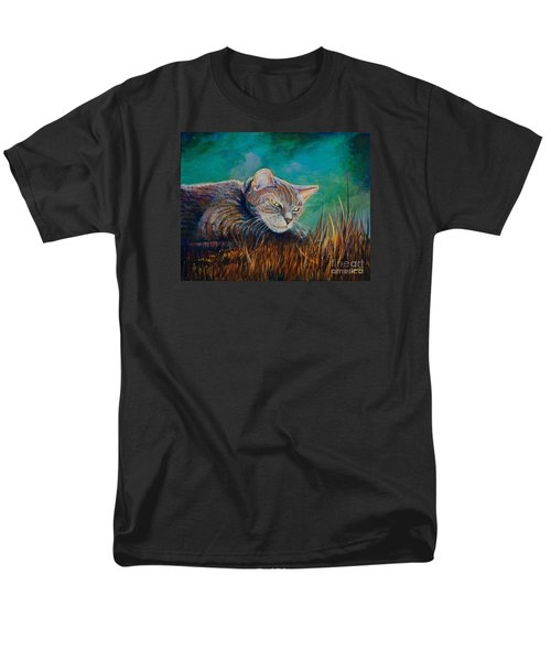 Men's T-Shirt  (Regular Fit) featuring the painting Saphira's Lawn by AnnaJo Vahle